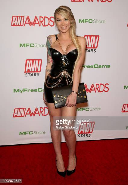 Adult film actress Aubrey Kate attends the 2020 Adult Video News Awards at The Joint inside the Hard Rock Hotel Casino on January 25 2020 in Las...