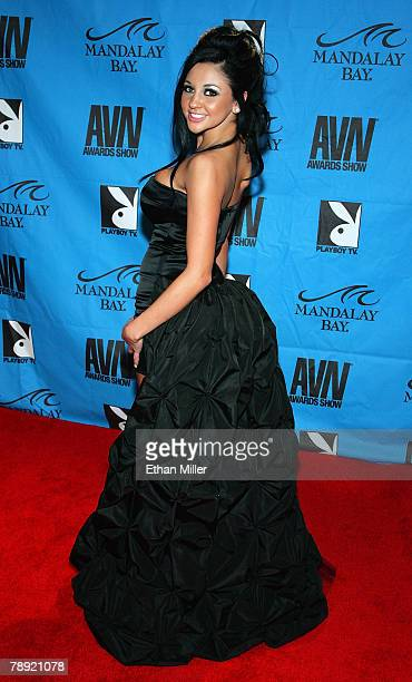 Adult film actress Audrey Bitoni arrives at the 25th annual Adult Video News Awards Show at the Mandalay Bay Events Center January 12, 2008 in Las...