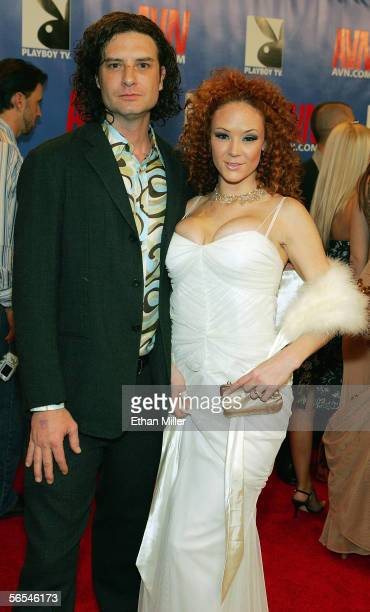 Adult film actress Audrey Hollander and actor Otto Bauer arrive at the Adult Video News Awards Show at the Venetian Resort Hotel and Casino January 7...