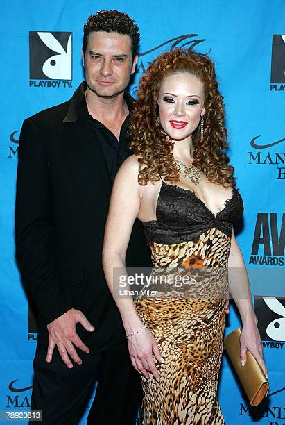 Adult film actress Audrey Hollander and her husband adult film actor Otto Bauer arrive at the 25th annual Adult Video News Awards Show at the...