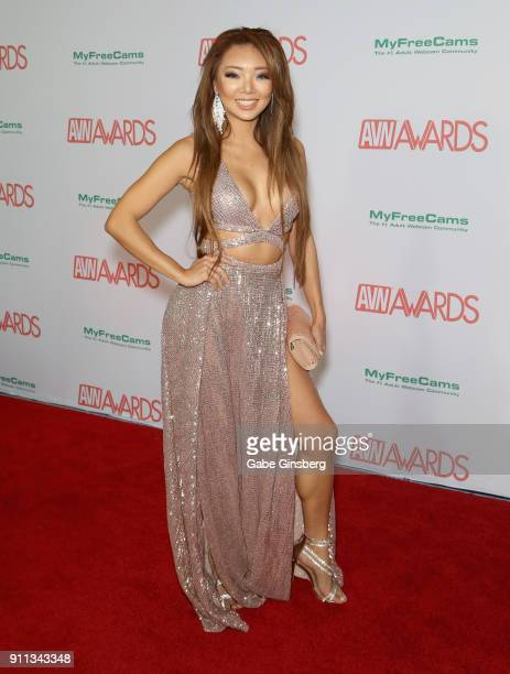 Adult film actress Ayumi Anime attends the 2018 Adult Video News Awards at the Hard Rock Hotel Casino on January 27 2018 in Las Vegas Nevada