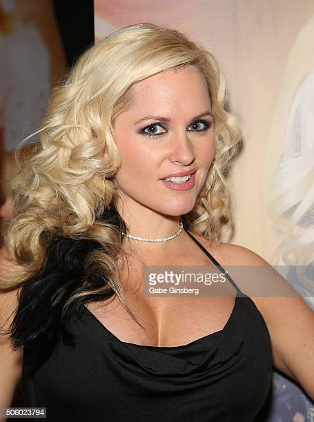 Adult film actress AZ Blonde attends the 2016 AVN Adult Entertainment Expo at the Hard Rock Hotel Casino on January 20 2016 in Las Vegas United States