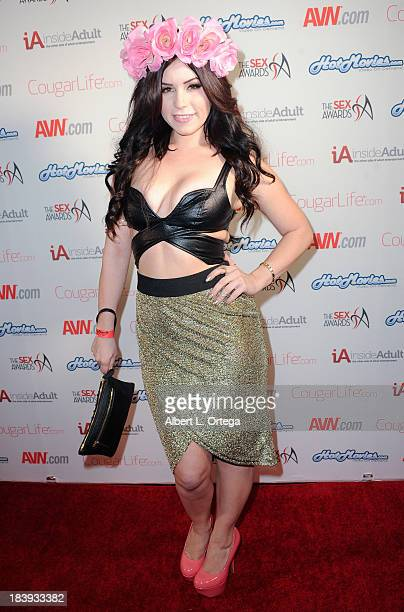 Adult film actress Belle Noire arrives for The 1st Annual Sex Awards 2013 held at Avalon on October 9 2013 in Hollywood California
