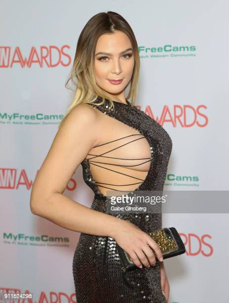 Adult film actress Blair Williams attends the 2018 Adult Video News Awards at the Hard Rock Hotel Casino on January 27 2018 in Las Vegas Nevada