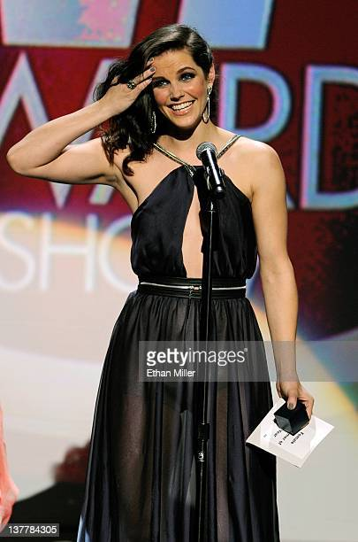 Adult film actress Bobbi Starr accepts the award for Female Performer of the Year during the 29th annual Adult Video News Awards Show at The Joint...