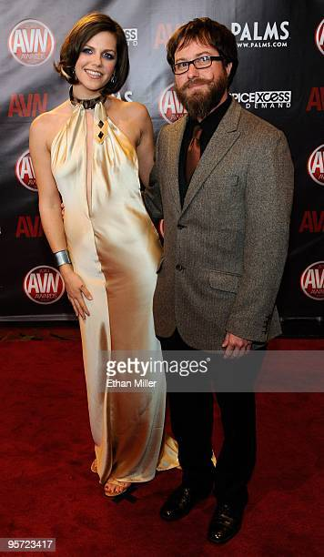 "Adult film actress Bobbi Starr and Christopher ""Ssippi"" arrive at the 27th annual Adult Video News Awards Show at the Palms Casino Resort January 9,..."