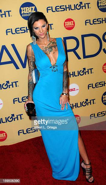 Adult Film actress Bonnie Rotten arrives for the 2013 XBIZ Awards held at the Hyatt Regency Century Plaza on January 11 2013 in Century City...
