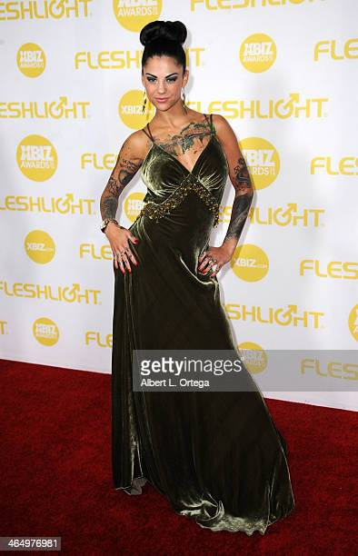 Adult film actress Bonnie Rotten arrives for the 2014 XBIZ Awards held at The Hyatt Regency Century Plaza Hotel on January 24 2014 in Century City...