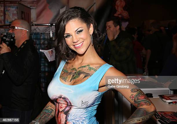 Adult film actress Bonnie Rotten attends the 2014 AVN Adult Entertainment Expo at the Hard Rock Hotel & Casino on January 15, 2014 in Las Vegas,...