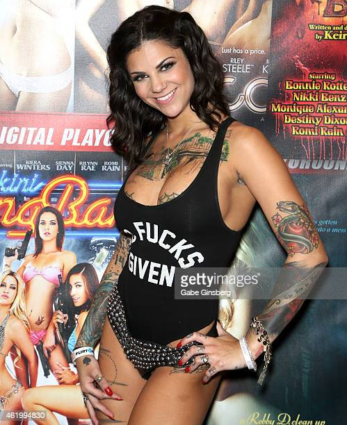 Adult film actress Bonnie Rotten attends the 2015 AVN Adult Entertainment Expo at the Hard Rock Hotel & Casino on January 22, 2015 in Las Vegas,...