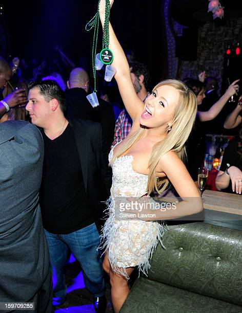 Adult film actress Bree Olson appears at The Act Nightclub at The Palazzo on January 18 2013 in Las Vegas Nevada