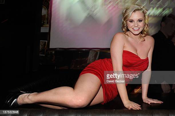 Adult film actress Bree Olson appears at the Gallery Nightclub at the Planet Hollywood Resort Casino on January 21 2012 in Las Vegas Nevada