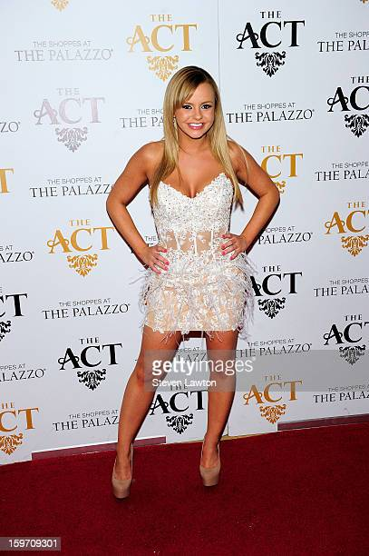 Adult film actress Bree Olson arrives for a night at The Act Nightclub at The Palazzo on January 18 2013 in Las Vegas Nevada