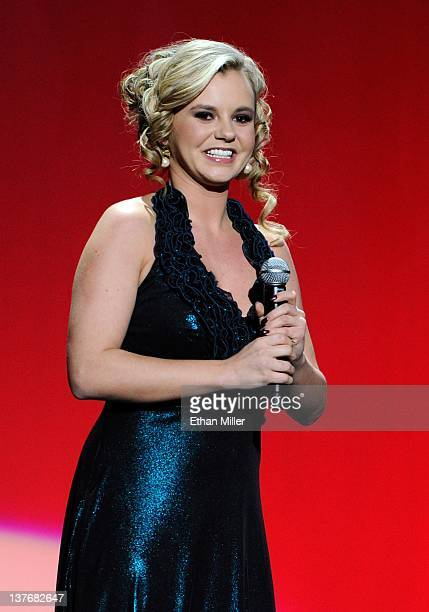 Adult film actress Bree Olson hosts the 29th annual Adult Video News Awards Show at The Joint inside the Hard Rock Hotel Casino January 21 2012 in...