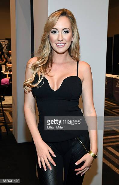 Adult film actress Brett Rossi appears at the Yummi booth at the 2017 AVN Adult Entertainment Expo at the Hard Rock Hotel Casino on January 18 2017...