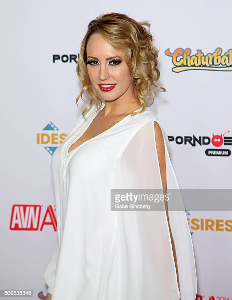 Adult film actress Brett Rossi attends the 2016 Adult Video News Awards at the Hard Rock Hotel Casino on January 23 2016 in Las Vegas Nevada