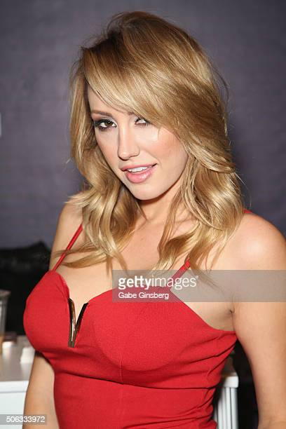 Adult film actress Brett Rossi attends the 2016 AVN Adult Entertainment Expo at the Hard Rock Hotel Casino on January 22 2016 in Las Vegas Nevada