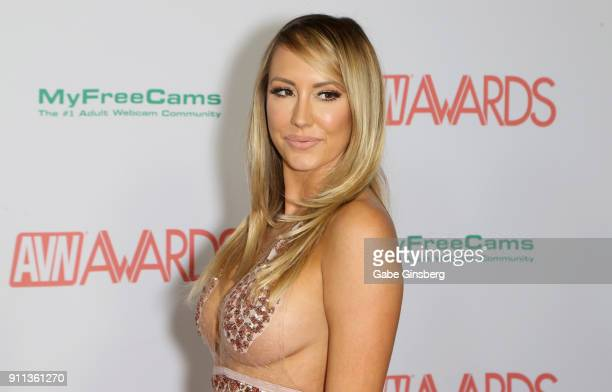 Adult film actress Brett Rossi attends the 2018 Adult Video News Awards at the Hard Rock Hotel Casino on January 27 2018 in Las Vegas Nevada