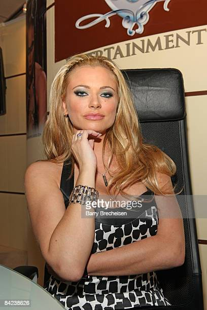 Adult film actress Briana Banks attends the 2009 AVN Adult Entertainment Expo at the Sands Expo Convention Center on January 9 2009 in Las Vegas...