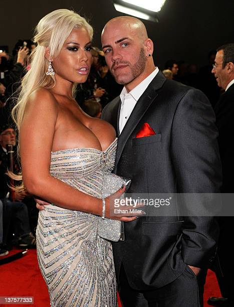 Adult film actress Bridget B and adult film actor and radio personality Derrick Pierce arrive at the 29th annual Adult Video News Awards Show at the...