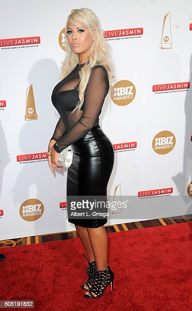 Adult film actress Bridgette B arrives for the 2016 XBIZ Awards held at JW Marriott Los Angeles at L.A. LIVE on January 15, 2016 in Los Angeles,...