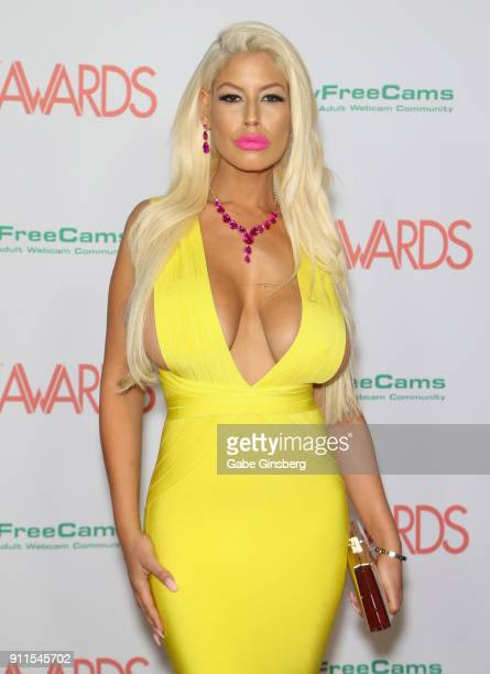 Adult film actress Bridgette B attends the 2018 Adult Video News Awards at the Hard Rock Hotel Casino on January 27 2018 in Las Vegas Nevada
