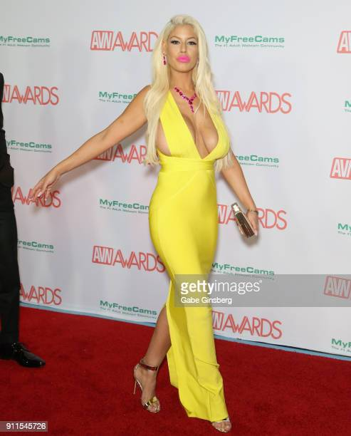 Adult film actress Bridgette B attends the 2018 Adult Video News Awards at the Hard Rock Hotel & Casino on January 27, 2018 in Las Vegas, Nevada.