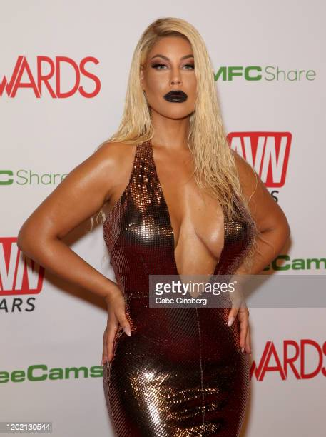 Adult film actress Bridgette B attends the 2020 Adult Video News Awards at The Joint inside the Hard Rock Hotel Casino on January 25 2020 in Las...