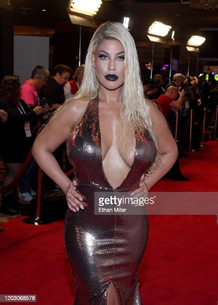 Adult film actress Bridgette B attends the 2020 Adult Video News Awards at The Joint inside the Hard Rock Hotel & Casino on January 25, 2020 in Las...