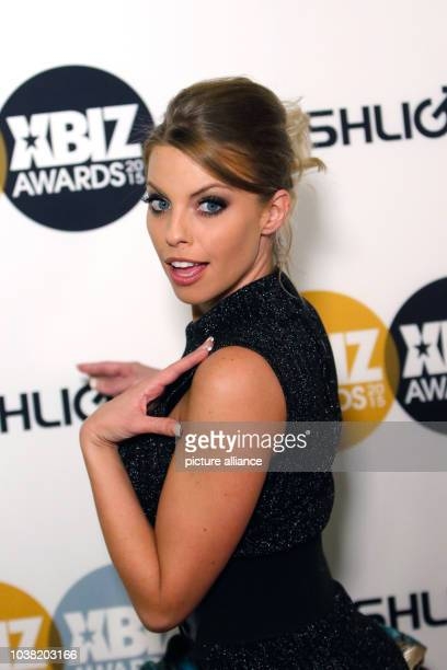 Adult film actress Britney Amber arrives at the 2015 Xbiz Awards in Los Angeles USA on 15 January 2015 Photo Hubert Boesl NOWIRESERVICE | usage...