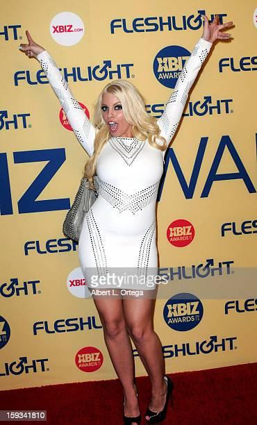 Adult Film actress Britney Amber arrives for the 2013 XBIZ Awards held at the Hyatt Regency Century Plaza on January 11 2013 in Century City...