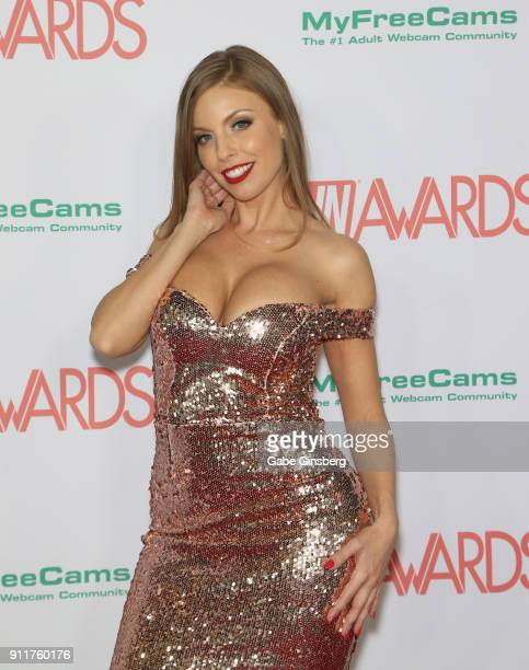 Adult film actress Britney Amber attends the 2018 Adult Video News Awards at the Hard Rock Hotel Casino on January 27 2018 in Las Vegas Nevada