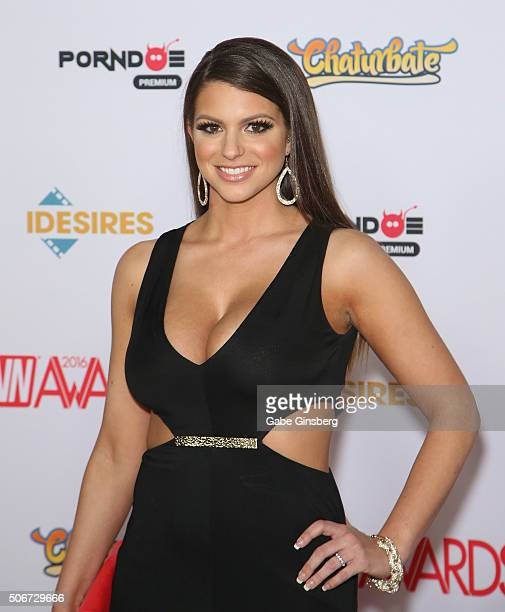 Adult film actress Brooklyn Chase attends the 2016 Adult Video News Awards at the Hard Rock Hotel Casino on January 23 2016 in Las Vegas Nevada
