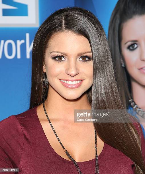Adult film actress Brooklyn Chase attends the 2016 AVN Adult Entertainment Expo at the Hard Rock Hotel Casino on January 20 2016 in Las Vegas United...