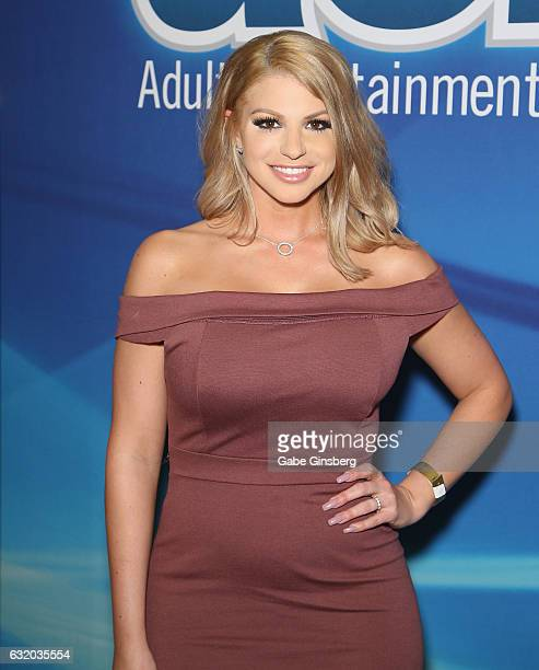 Adult film actress Brooklyn Chase attends the 2017 AVN Adult Entertainment Expo at the Hard Rock Hotel Casino on January 18 2017 in Las Vegas Nevada