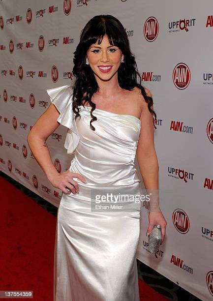 Adult film actress Brooklyn Lee arrives at the 29th annual Adult Video News Awards Show at the Hard Rock Hotel Casino January 21 2012 in Las Vegas...