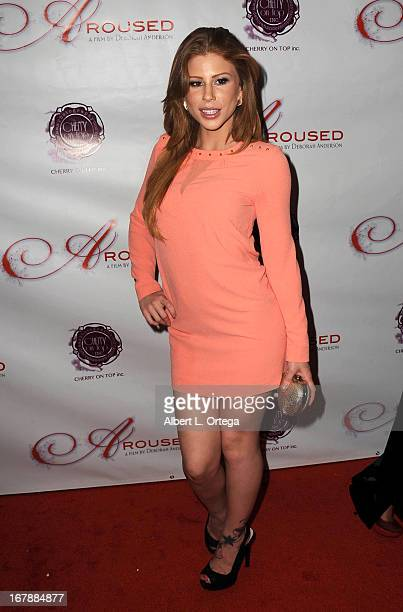 Adult film actress Brooklyn Lee arrives for the Premiere Of 'Aroused' held at Landmark Nuart Theatre on May 1 2013 in Los Angeles California