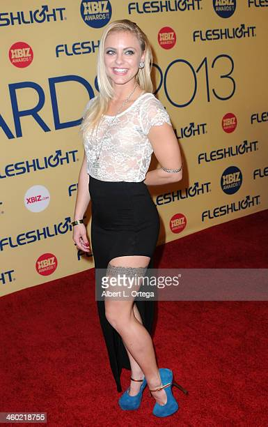 Adult film actress Cameron Canada arrives for the 2013 XBIZ Awards held at the Hyatt Regency Century Plaza on January 11 2013 in Century City...