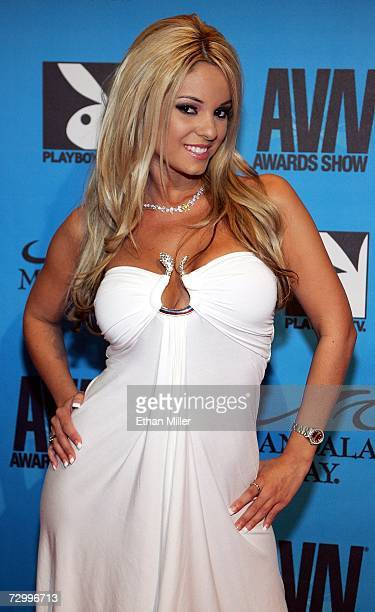 Adult film actress Carmen Luvana arrives at the 24th annual Adult Video News Awards Show at the Mandalay Bay Events Center January 13 2007 in Las...