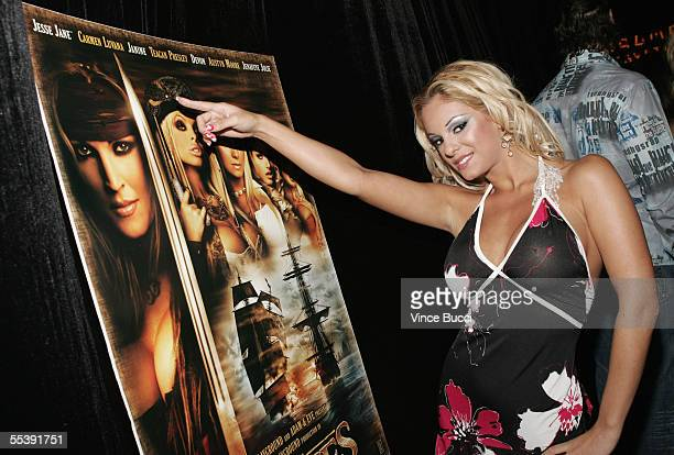 Adult film actress Carmen Luvana attends the Digital Playground Adam and Eve production of the XXX rated film 'Pirates' on September 12 2005 at the...