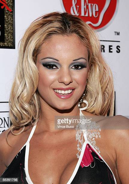Adult film actress Carmen Luvana attends the Digital Playground Adam and Eve production of the XXX rated film Pirates on September 12 2005 at the...