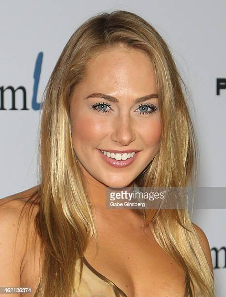 Adult film actress Carter Cruise arrives at the 2015 Adult Video News Awards at the Hard Rock Hotel Casino on January 24 2015 in Las Vegas Nevada