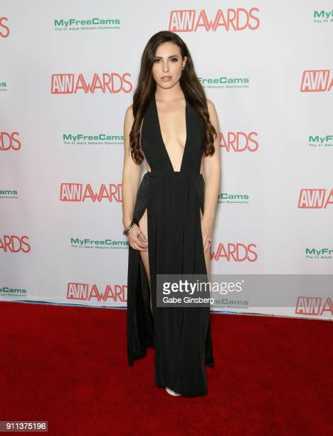 Adult film actress Casey Calvert attends the 2018 Adult Video News Awards at the Hard Rock Hotel Casino on January 27 2018 in Las Vegas Nevada
