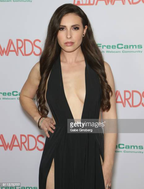 Adult Film Actress Casey Calvert Attends The 2018 Adult Video News Awards At The Hard Rock