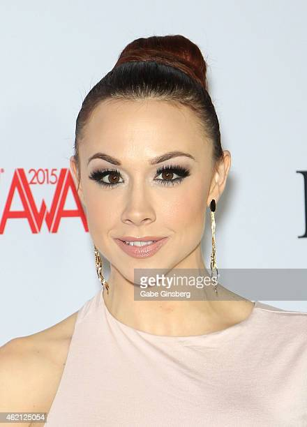 Adult film actress Chanel Preston arrives at the 2015 Adult Video News Awards at the Hard Rock Hotel Casino on January 24 2015 in Las Vegas Nevada