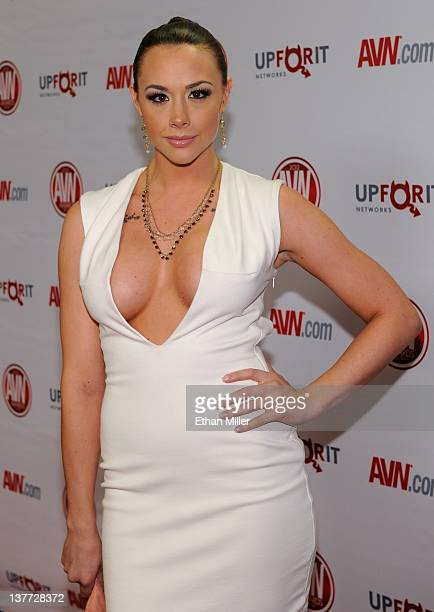 Adult film actress Chanel Preston arrives at the 29th annual Adult Video News Awards Show at the Hard Rock Hotel Casino January 21 2012 in Las Vegas...