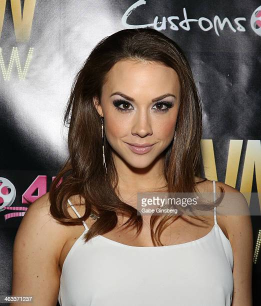 Adult film actress Chanel Preston attends the 2014 AVN Adult Entertainment Expo at the Hard Rock Hotel Casino on January 17 2014 in Las Vegas Nevada