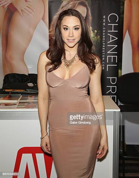 Adult film actress Chanel Preston attends the 2017 AVN Adult Entertainment Expo at the Hard Rock Hotel Casino on January 18 2017 in Las Vegas Nevada