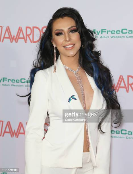 Adult film actress Chanel Santini attends the 2018 Adult Video News Awards at the Hard Rock Hotel Casino on January 27 2018 in Las Vegas Nevada
