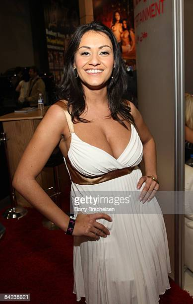 Adult Film Actress Charley Chase Attends The  Avn Adult Entertainment Expo At The Sands Expo